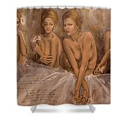Daisies And Doubts Shower Curtain