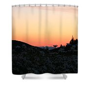 Daisies And Sunrise Shower Curtain
