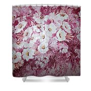 Daisy Blush Shower Curtain