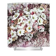 Daisy Blush Remix Shower Curtain