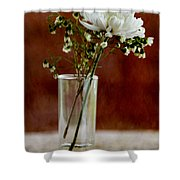 Daisy Mum On Red 2 Shower Curtain