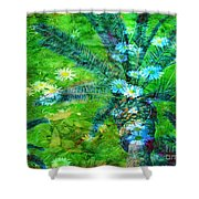 Daisy Palms Shower Curtain