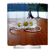 Daisy Unity Rings Shower Curtain