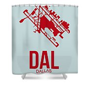 Dal Dallas Airport Poster 3 Shower Curtain