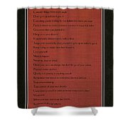 Dalai Lama A To Zen Of Life On Red Square Typography Shower Curtain