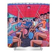 Dalawa Nalang Aalis Na Shower Curtain