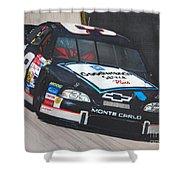 Dale Earnhardt At Bristol Shower Curtain