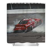 Dale Earnhardt Junior Victory Burnout Shower Curtain