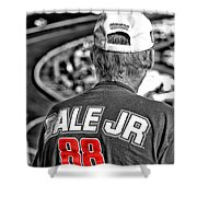 Dale Jr Shower Curtain by Karol Livote