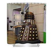 Dalek At The Bbc 2 Shower Curtain
