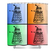 Dalek Pop Art Shower Curtain