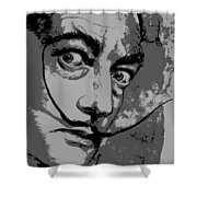 Dali In B W Shower Curtain
