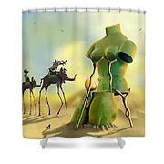 Dali On The Move  Shower Curtain
