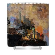 Dallas Abstract 002 Shower Curtain