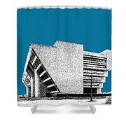 Dallas Skyline City Hall - Steel Shower Curtain