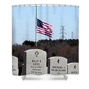 Dallas Fort Worth Memorial Cemetery Shower Curtain