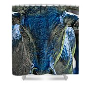Dallas Pioneer Plaza Cattle Shower Curtain