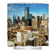 Dallas Skyline As Seen From Reunion Shower Curtain