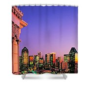 Dallas Skyline At Dusk Shower Curtain