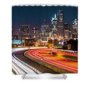 Dallas Skyline Shower Curtain