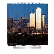 Dallas Skyline Sunset Shower Curtain
