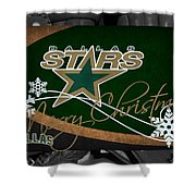 Dallas Stars Christmas Shower Curtain