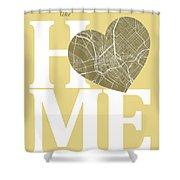Dallas Street Map Home Heart - Dallas Texas Road Map In A Heart Shower Curtain
