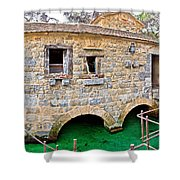 Dalmatian Village Traditional Stone Watermill Shower Curtain