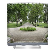 Daly Mansion Entrance - Montana Shower Curtain