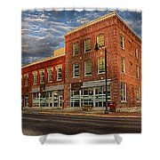 Daly Tea Building Shower Curtain