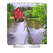 Dam At Starrs Mill Shower Curtain