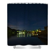 Dam At The End Of The River Shower Curtain
