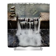 Dam Rocks Shower Curtain