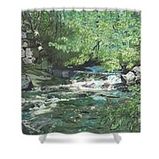 Dam Site Shower Curtain
