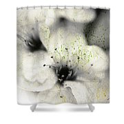 Damaged Blooms Shower Curtain