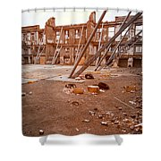 Damaged Building Shower Curtain