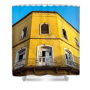 Damaged Colonial Building Shower Curtain
