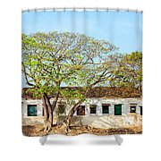 Damaged Colonial Buildings Shower Curtain by Jess Kraft