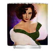 Dame Elizabeth Rosemond 'liz' Taylor - Featured In 'comfortable Art' Group Shower Curtain