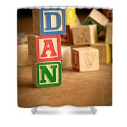 Dan - Alphabet Blocks Shower Curtain