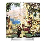 Dance Amongst The Daggers Shower Curtain