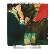 Dance At Bougival Close Up Shower Curtain