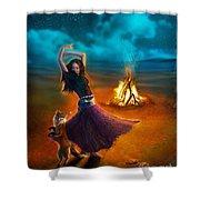 Dance Dervish Fox Shower Curtain