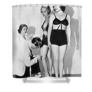 Dance Director Selecting Girls Shower Curtain