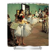 Dance Examination Shower Curtain by Edgar Degas