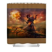 Dance In The Fire Shower Curtain