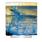 Dance Of The Crashing Wave Shower Curtain