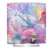 Dance Of The Dragonfly Shower Curtain