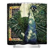 Dance Of The Peacock Shower Curtain