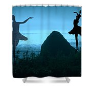 Dance Of The Sea Shower Curtain by Joyce Dickens